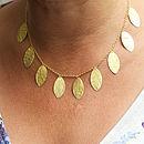 Matt Gold Leaf Necklace