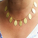 Matt Gold Leaf Necklace