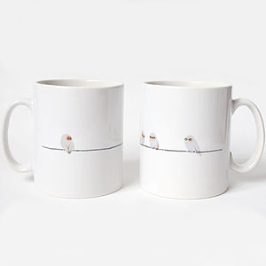 Birds On A Wire Mug And Card Gift Set
