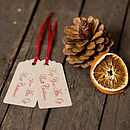 'Keep Your Mitts Off' Christmas Gift Tags