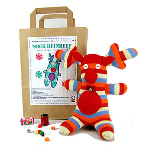 Sock Reindeer Craft Kit - sewing & knitting