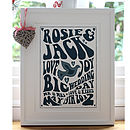 Retro Gig Style Wedding Personalised Print