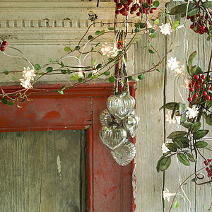 Rustic Glass Baubles - outdoor decorations