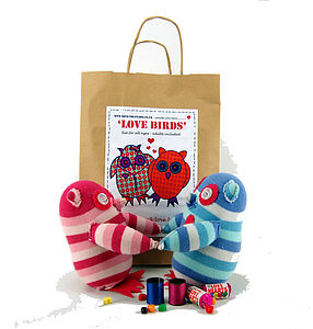 Love Birds Sock Creature Craft Kit - creative kits & experiences