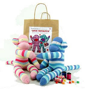 Love Monkeys Sock Creature Craft Kit - toys & games