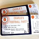 Pack Of 20 Football Party Invitations