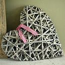 Grey Willow Hanging Heart Large