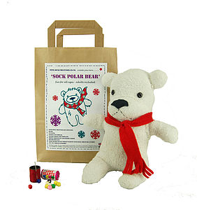 Sock Polar Bear Craft Kit - gifts for children
