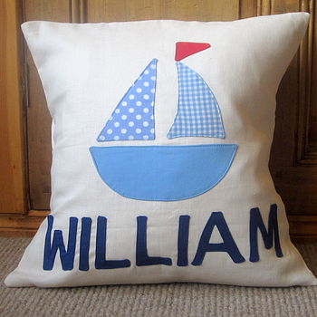 Personalised Boy's Name Cushion Cover