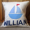 Personalised Boy's Name Cushion