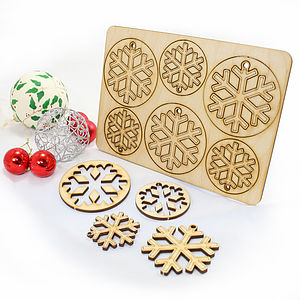 12 Laser Cut Snowflake Christmas Decorations - view all decorations
