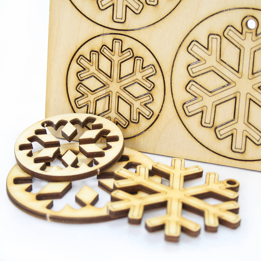 12 laser cut snowflake christmas decorations by cleancut