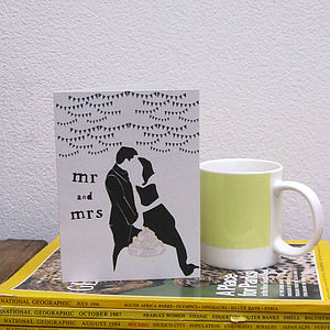Mr And Mrs Wedding Card - anniversary cards
