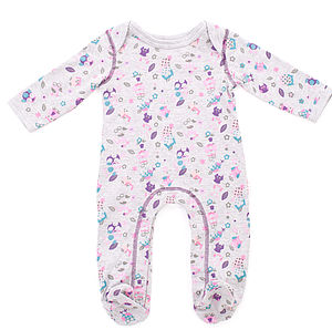 Owl Print Footed Sleepsuit - bodysuits & all-in-ones