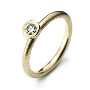 Yellow Gold Diamond Solitaire - diamonds