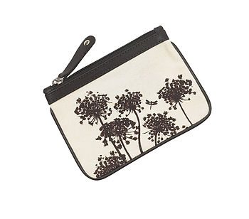 Wildflower Canvas Coin Purse