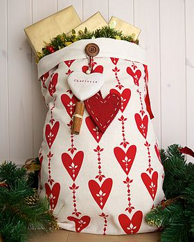 Personalised Love Christmas Santa Sack