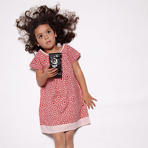 Organic Patterned Girl's Dress - dresses