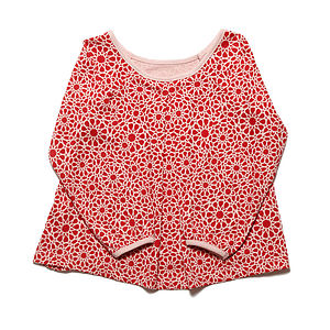 Organic Patterned Girl's Top