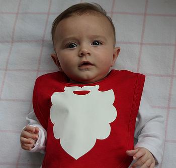 Christmas Santa Bib