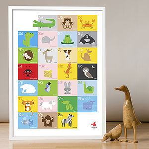 Child's Animal Alphabet Print - children's pictures & paintings