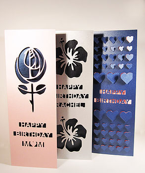 Foot Tall Personalised Birthday Card