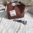 Vintage Tan Sailcloth Wash Bag
