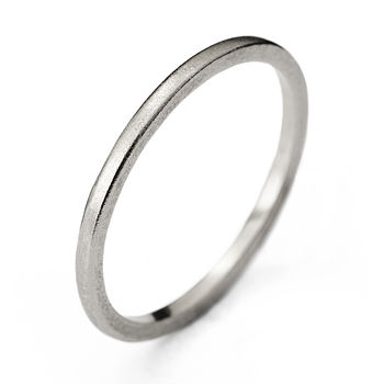 Slim White Gold Wedding Ring