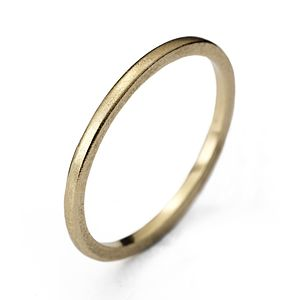 Yellow Gold Wedding Ring - rings