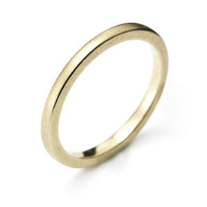 Square Profile Yellow Gold Wedding Ring - rings