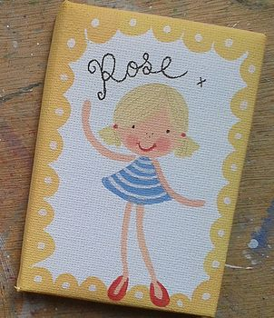 Personalised Girls Cutie Canvas