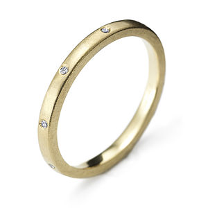 Yellow Gold Seven Stone Eternity Ring - jewellery
