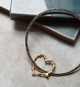 Personalised Thorn Heart Bangle - bracelets & bangles