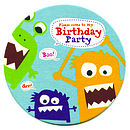 Monster Party Coasters Invitations
