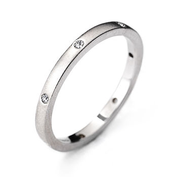White Gold Seven Stone Eternity Ring