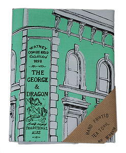 'The George And The Dragon' East End Pub Tea Towel