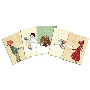 Festive Postcard Pack - cards & wrap