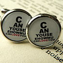 Can You See How Much I Love You Cufflinks