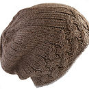 Alpaca Unisex Cable Knit Hat Special Price