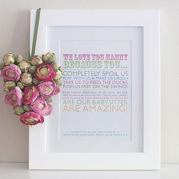 'I Love You Because' Print