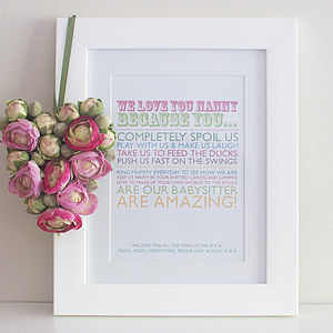'I Love You Because' Print - home