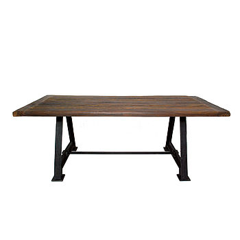 Large Railway Dining Table
