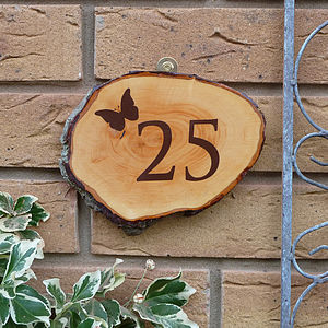 Personalised Wooden Door Number Sign - art & decorations