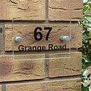 Acrylic Door Number Sign