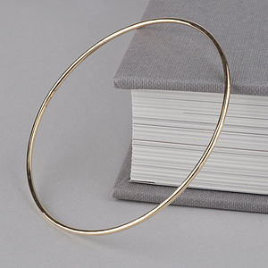Fine Softly Beaten Solid Gold Bangle - fine jewellery