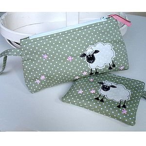 Sheep Make Up Pouch