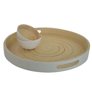 Kew Bamboo Round Tray - mother's day gifts