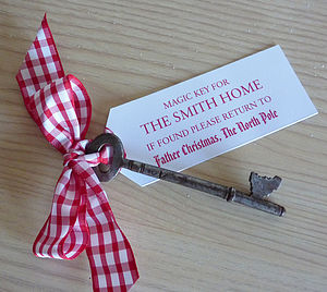 Personalised Santa's Christmas Key - finishing touches