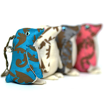 Hand Printed Silk Penguin Decoration