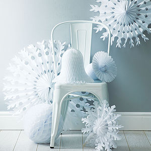 Winter White Christmas Decoration Pack - bunting & garlands